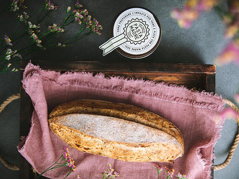 Baguette ai sei semi Sosi con pasta Madre Sosi
