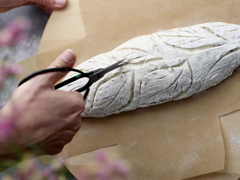 Baguette ai sei semi Sosi con pasta Madre Sosi - lavorazione breadart
